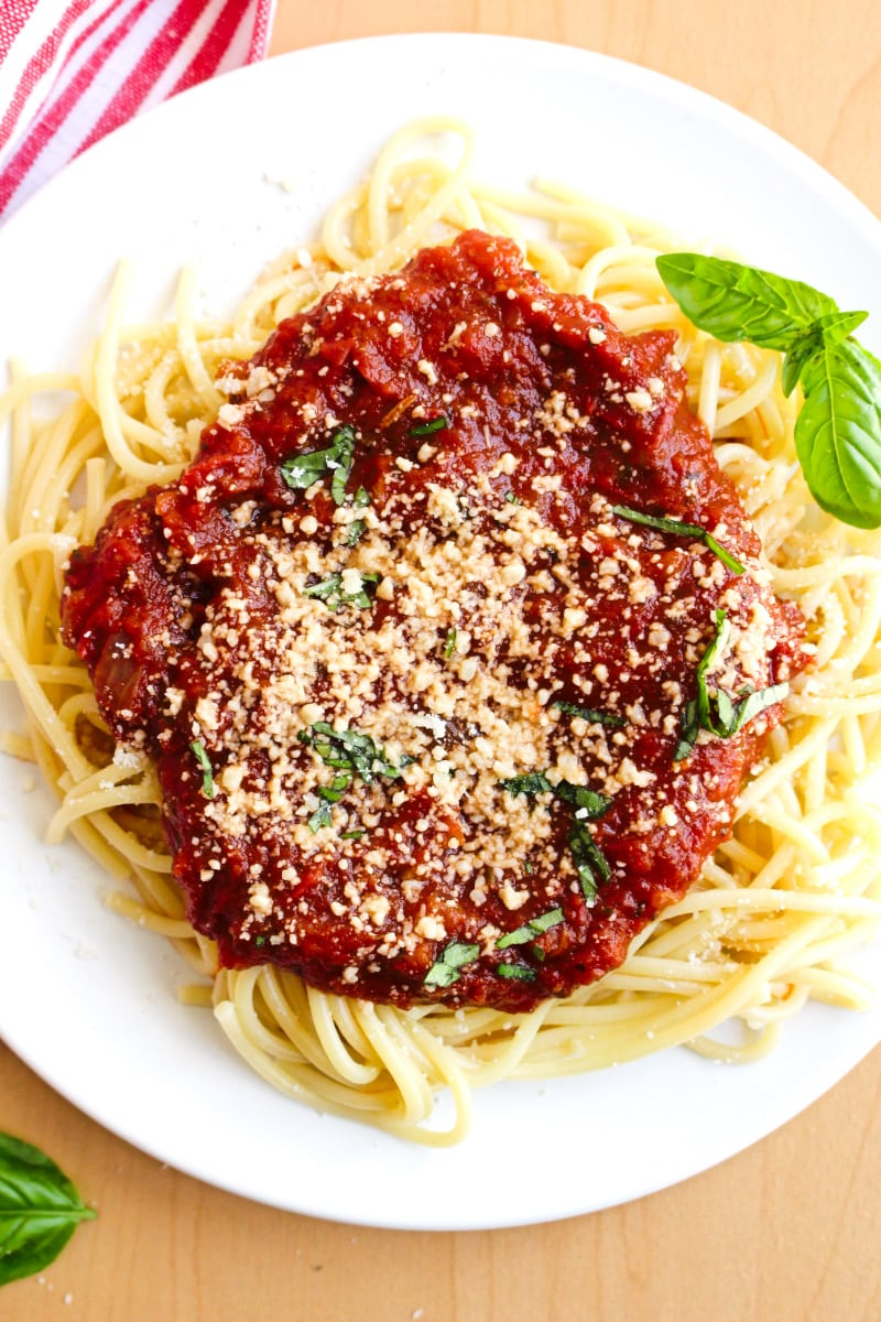 MeMe's Spaghetti Sauce with Meatballs and Sausage is a recipe based on my grandmother's recipe. She didn't measure all of her ingredients, so this is my best recreation of her famous sauce and meatballs. #spaghettisauce