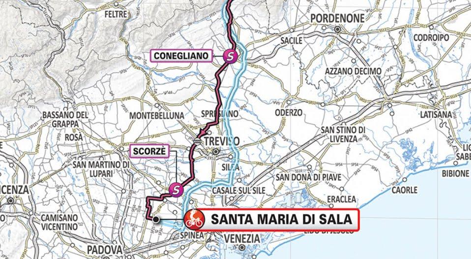 GIRO D'ITALIA 2019 Streaming Valdaora Santa Maria di Sala (VE): 18° Tappa Oggi 30 maggio in Diretta Rai Play TV