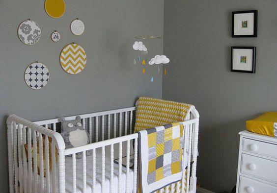 chambre bébé fille nuage