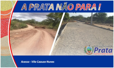 Prefeitura de Prata comemora obras e diz que não vão parar