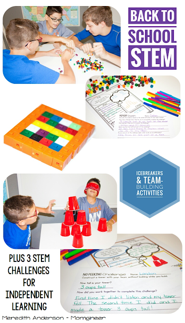 Back to School STEM Icebreakers and Team-Building Activities - Meredith Anderson Momgineer