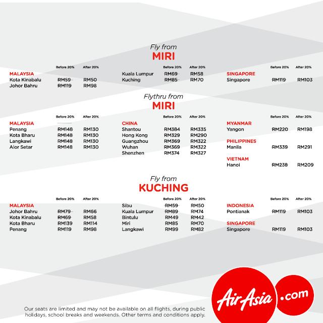 AirAsia Flight Ticket Discount Promo MATTA Fair Miri