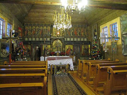 Nawa cerkwi w Świątkowej Małej.