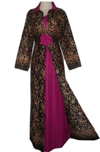 Model Baju Gamis Terbaru Kombinasi Batik Model Baju Gamis Terbaru