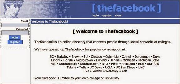 Sejarah Facebook : The Facebook sebelum menjadi Facebook