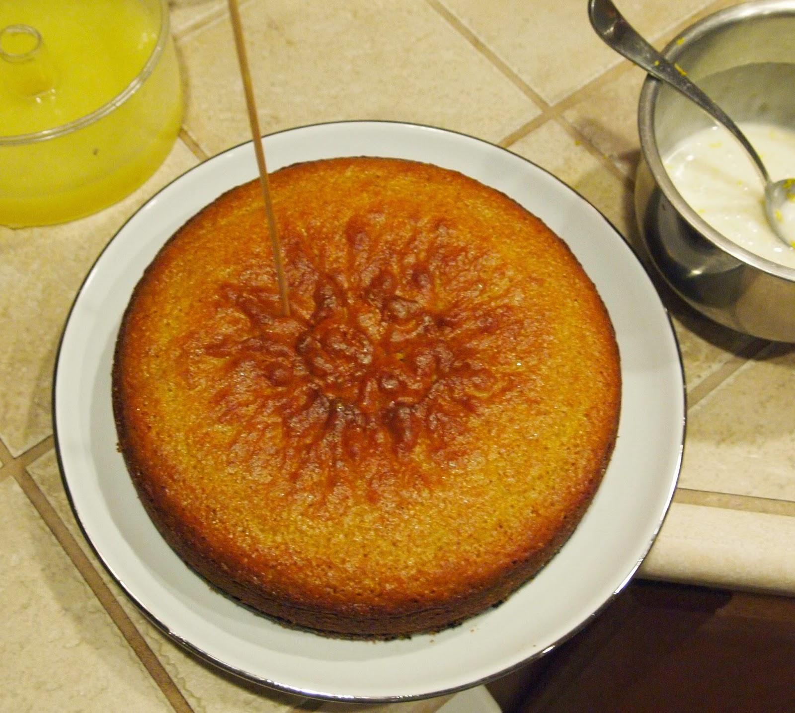 Lemon Cornbread Cake