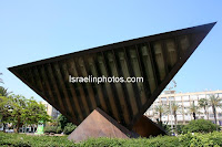 Memorial sculpture by Yigal Tumarkin commemorating the Holocaust