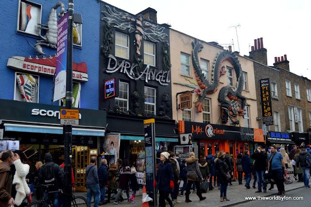 Fachadas chamativas do Camden Town