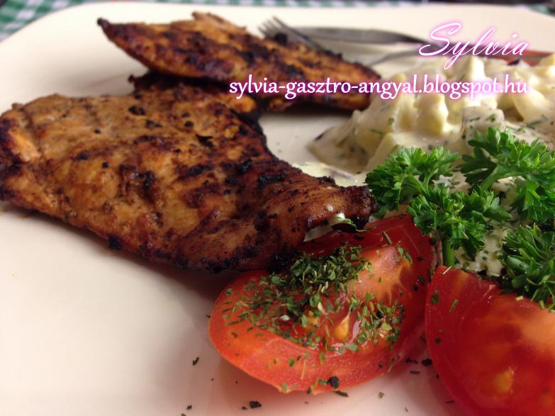 Sylvia Gasztro Angyal: Grillezett tex mex csirkemell