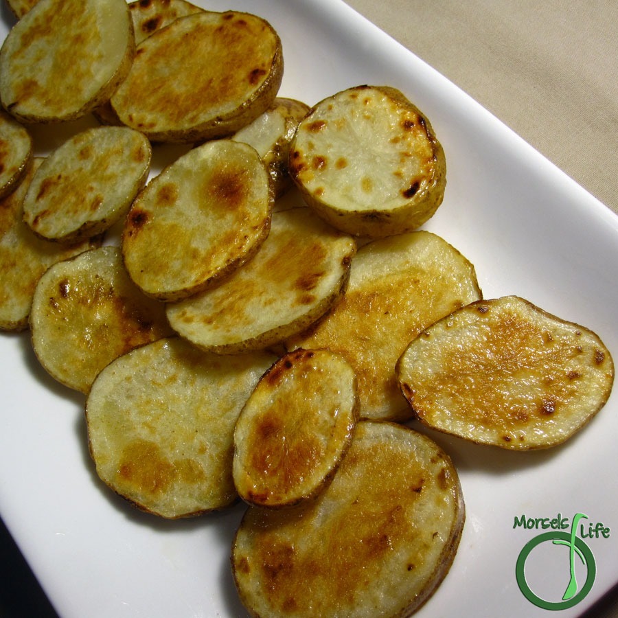 Morsels of Life - Tater Coins - Potatoes cut into coins and then cooked to perfection - a crisp exterior and a fluffy interior.