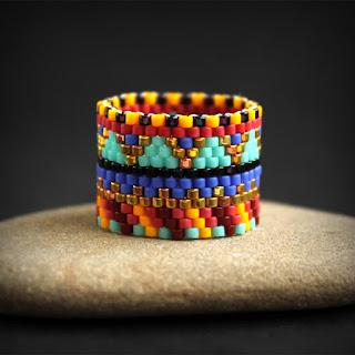 красивые необычные кольца в стиле этно украшения из бисера интернет магазин