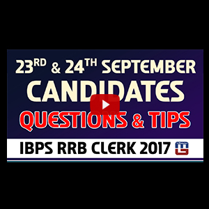 Questions & Tips | 23rd & 24th September | Reasoning | RRB CLERK 2017