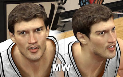 NBA 2K13 Tiago Splitter Cyberface Patch
