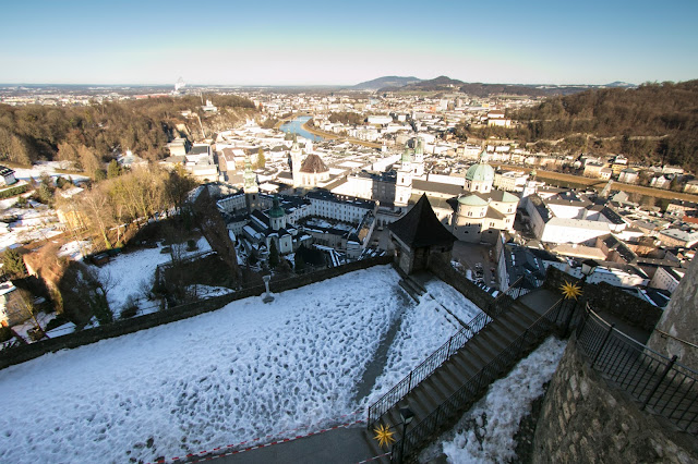 Panorama dalla Festung Hohensalzburg (fortezza)-Salisburgo