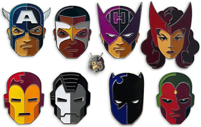 Captain America: Civil War Portrait Enamel Pin Series by Tom Whalen & Mondo