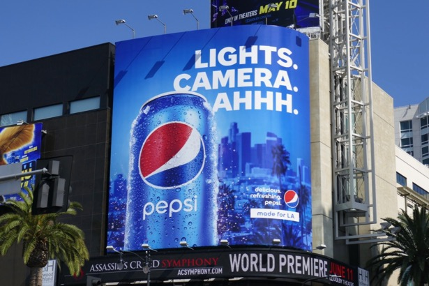 Pepsi Lights Camera Ahhh billboard