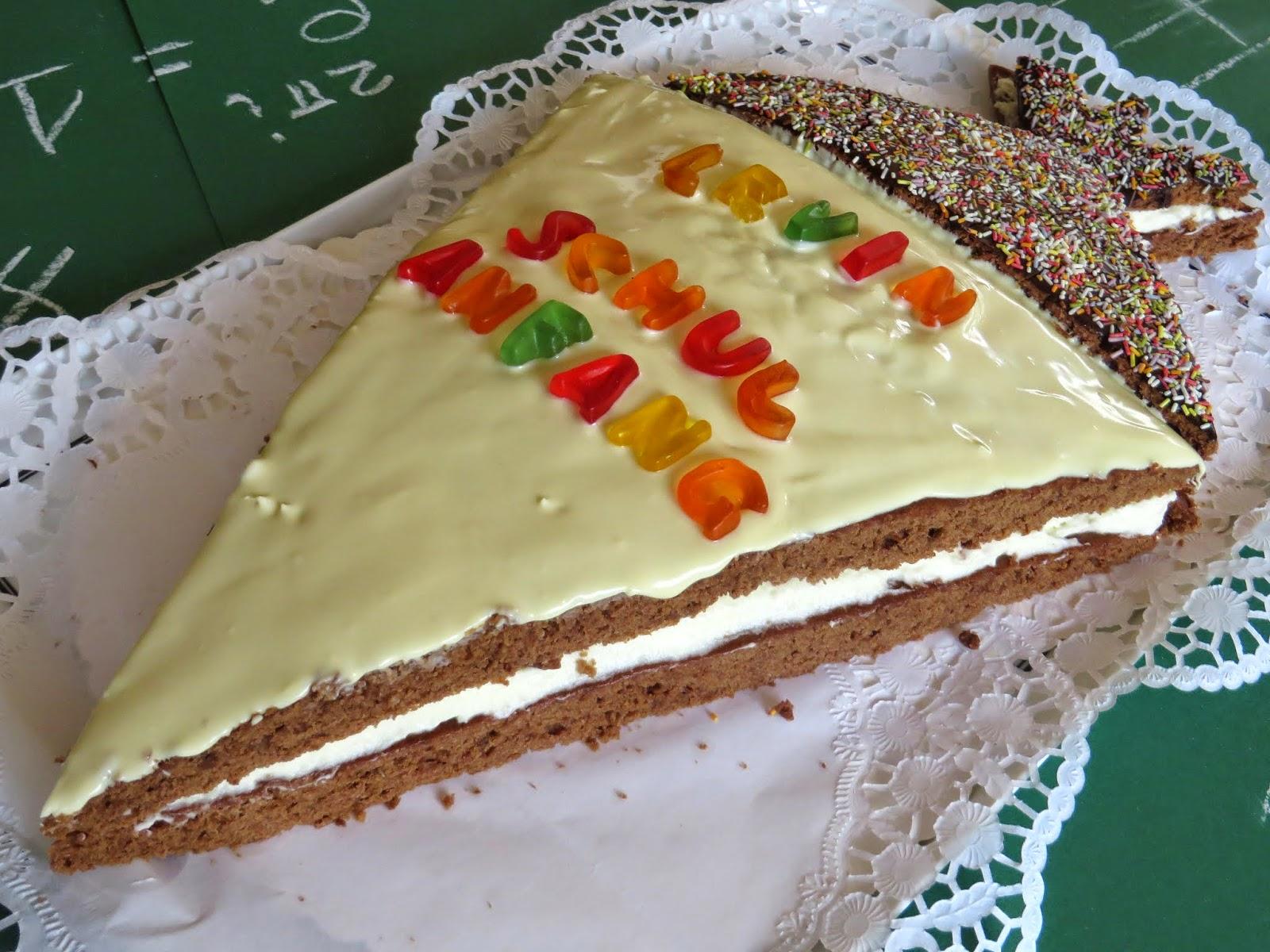 Kuchen und Deko zur Einschulung