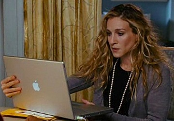 Carrie Bradshaw typing, Sex and the City