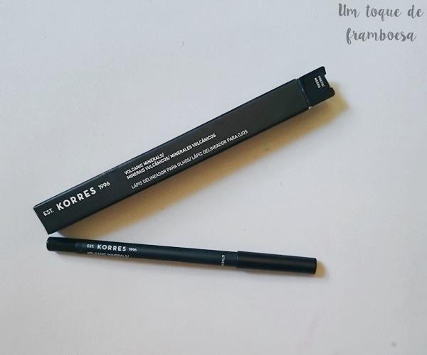 Resenha KORRES lápis delineador preto para olhos
