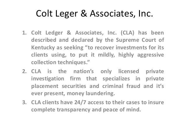 Follow Colt Ledger To Make Your Investment Secure!