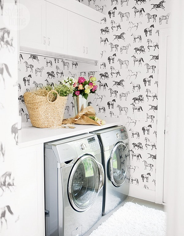 DIY Small Laundry Room Organization Ideas With Top Loading Washer 13
