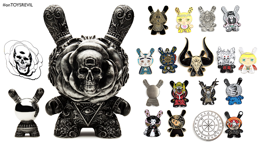 Arcane Divination  The Clairvoyant Dunny (Silver Edition)   Enamel Pins from  Kidrobot dda86e2e052