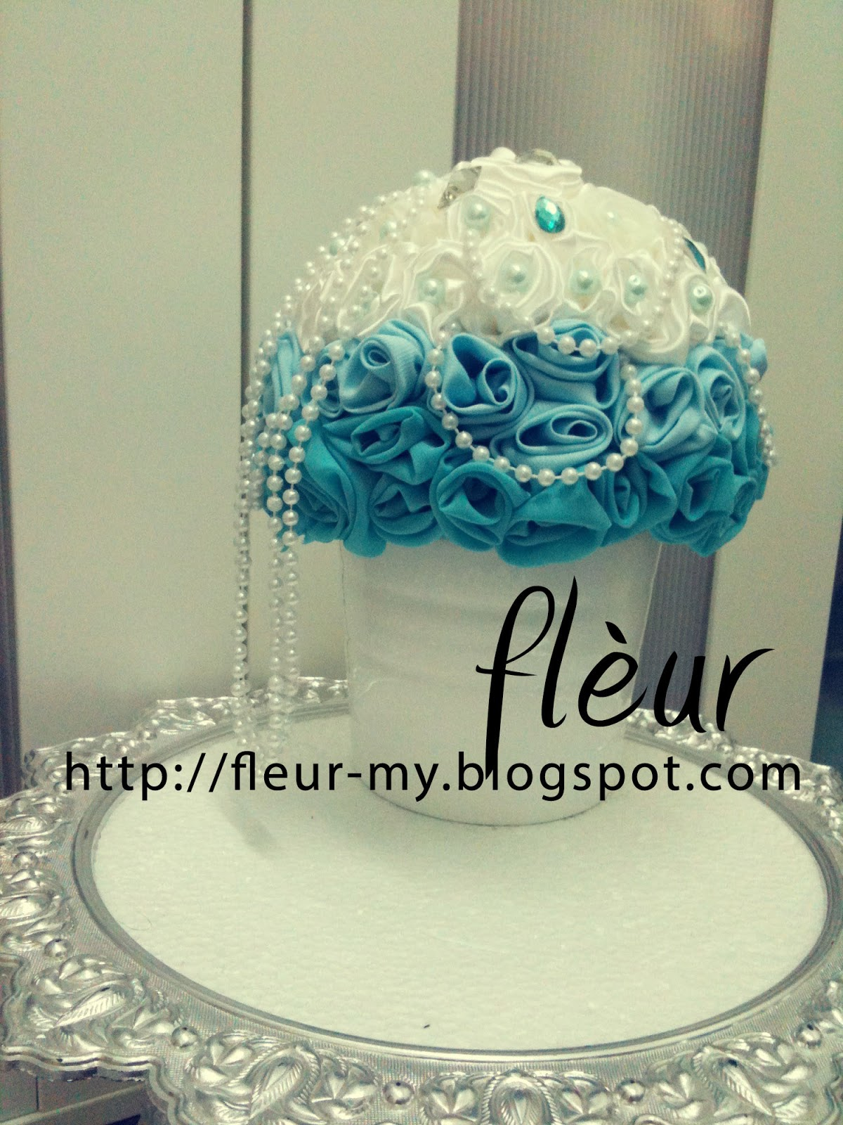 Ready Made Bouquet : Tiffany Blue Ombre Bouquet! (Sold ...