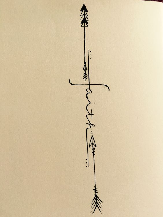 awesome faith arrow tattoos