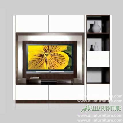 lemari pajangan tv lcd minimalis lucio