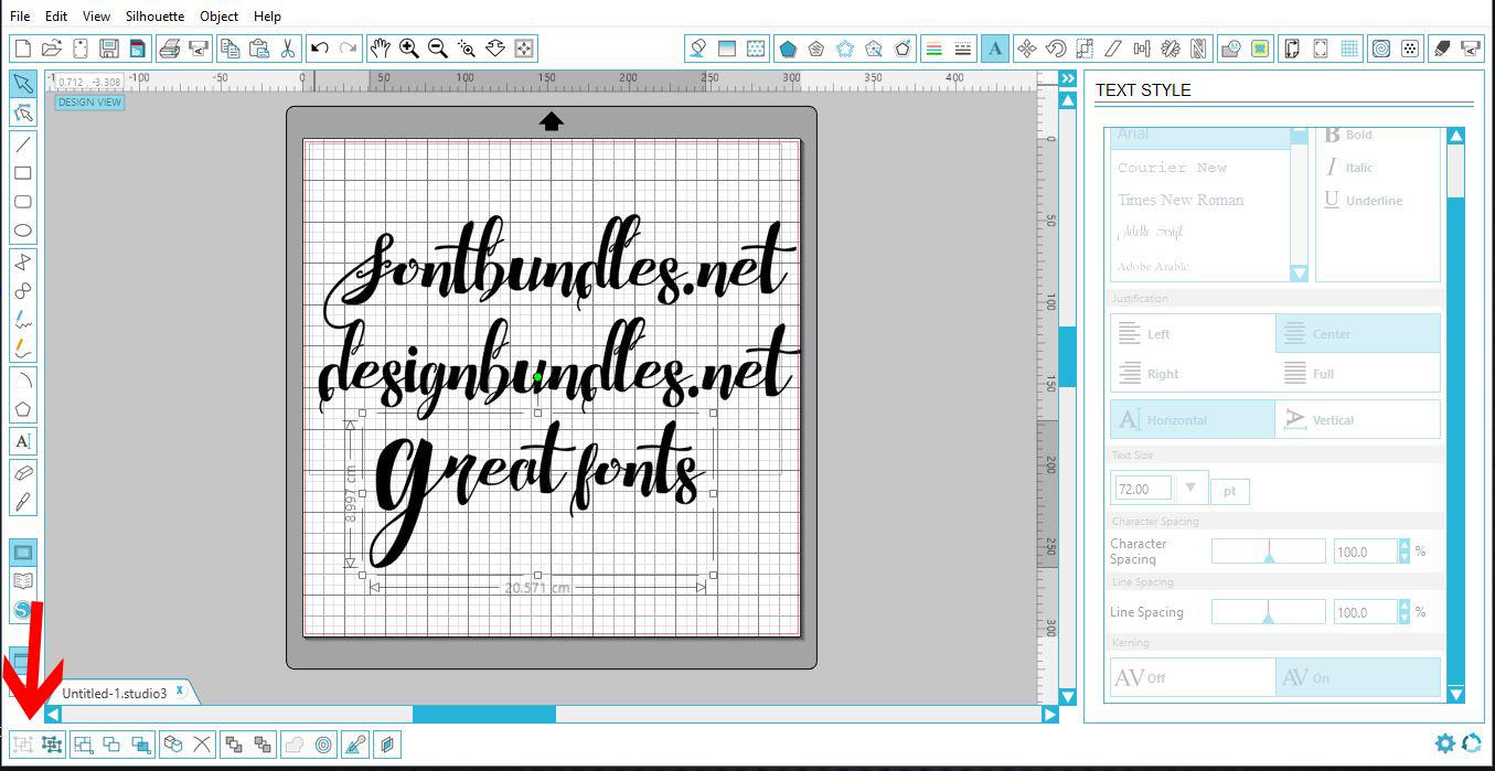 Text basics in Silhouette   Design Bundles