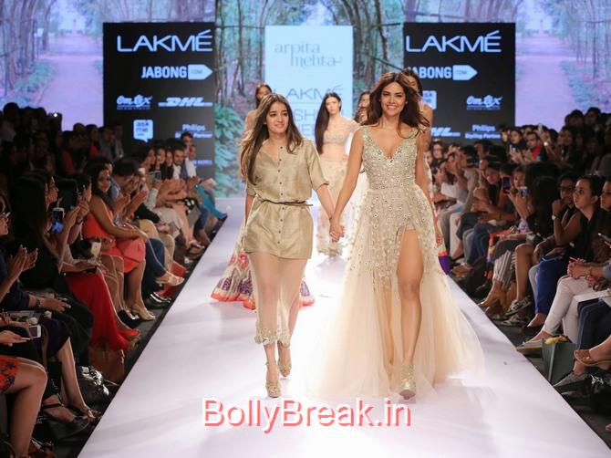 , Esha Gupta in Arpita Mehta Dress - Lakme Fashion Week 2015