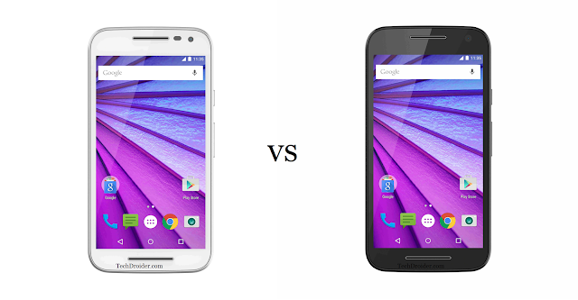 Motorola Moto G 3rd Generation : White vs Black