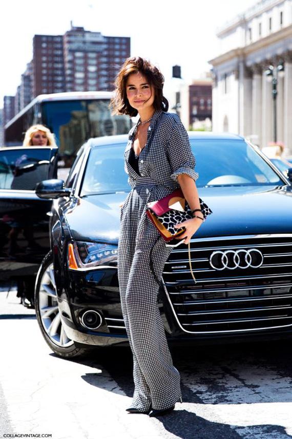 how to wear jumpsuit trend street style Miroslava Duma