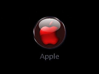 3D apple and mac os background logo