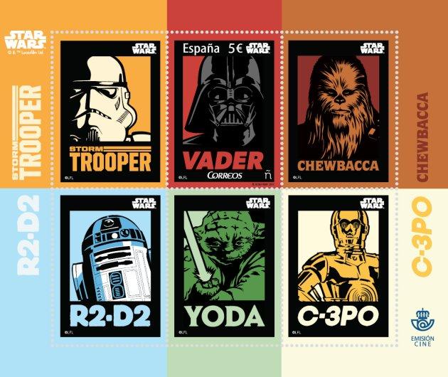 sellos correos star wars
