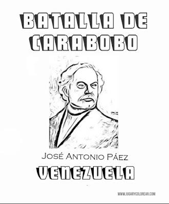 colorear Jocolorear José Antonio Páez Batalla de Carabo