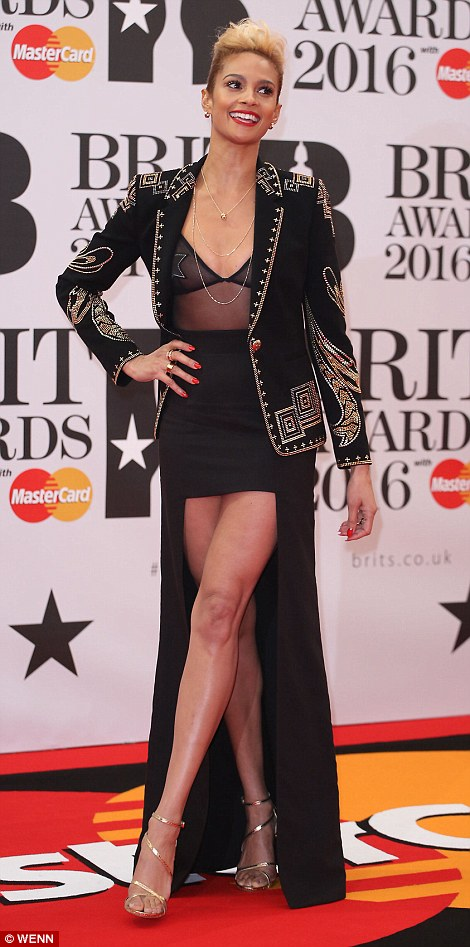 Alesha Dixon 2016 Brit Awards Red Carpet