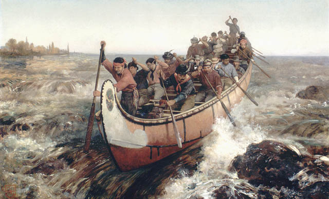 Shooting the Rapids by Frances Anne Hopkins