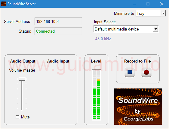 SoundWire Server per PC Windows e Linux
