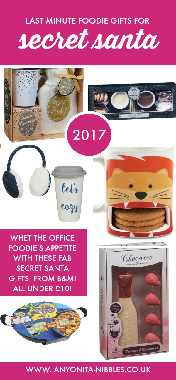 Last minute foodie Secret Santa gifts from B&M