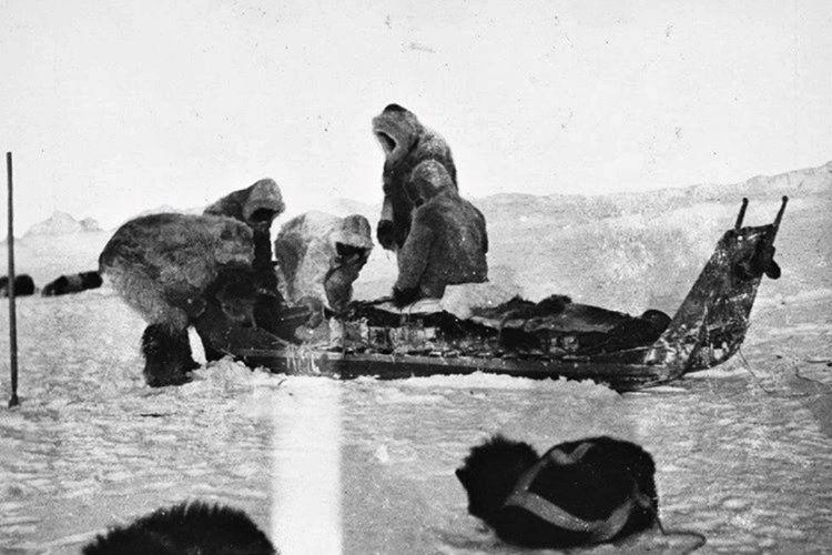 Grönland'da pek çok coğrafi araştırma yaptılar, öyle ki bu araştırmardan birinde elini kaybetti.