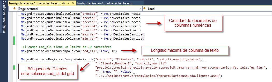 Código Complemento: Configuración 3 - Archivo VB - Programación de Complementos para eFactory ERP/CRM, Contabilidad y Nómina
