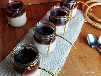 crema de turrón con chocolate