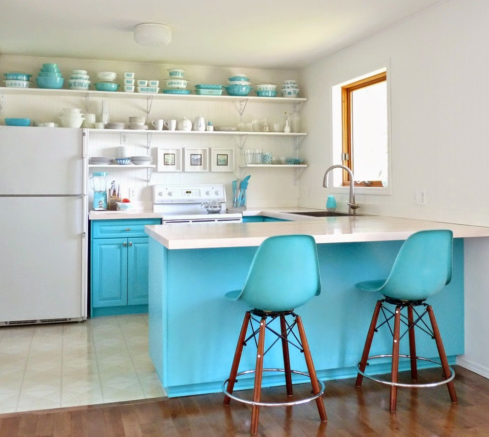 Turquoise Kitchen paint colors