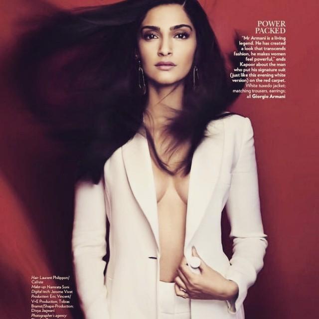 vogue , shoot   perfection , team sonam kapoor , sonam kapoor , vogue india ,, Sonam Kapoor Vogue Magazine Bold Scans April 2015 Issue