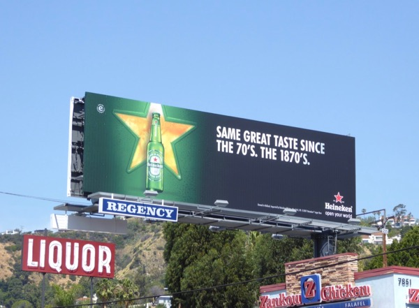 Heineken Same great taste 1870s billboard