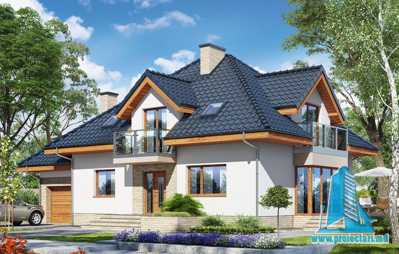 Proiecte de case proiect de casa cu demisol parter for Proiecte case cu garaj si mansarda