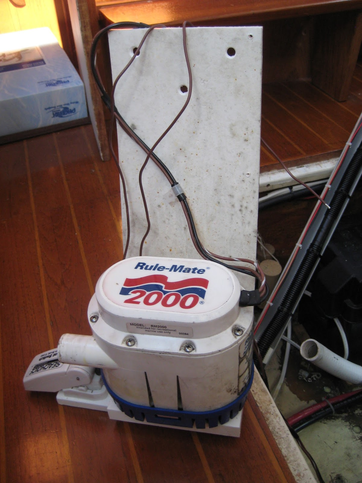 The circe chronicles bilge pumps heres another shot of the modified bracket and generic float switch the water witch switches arent cheap and since buying one weve read a couple of ccuart Images