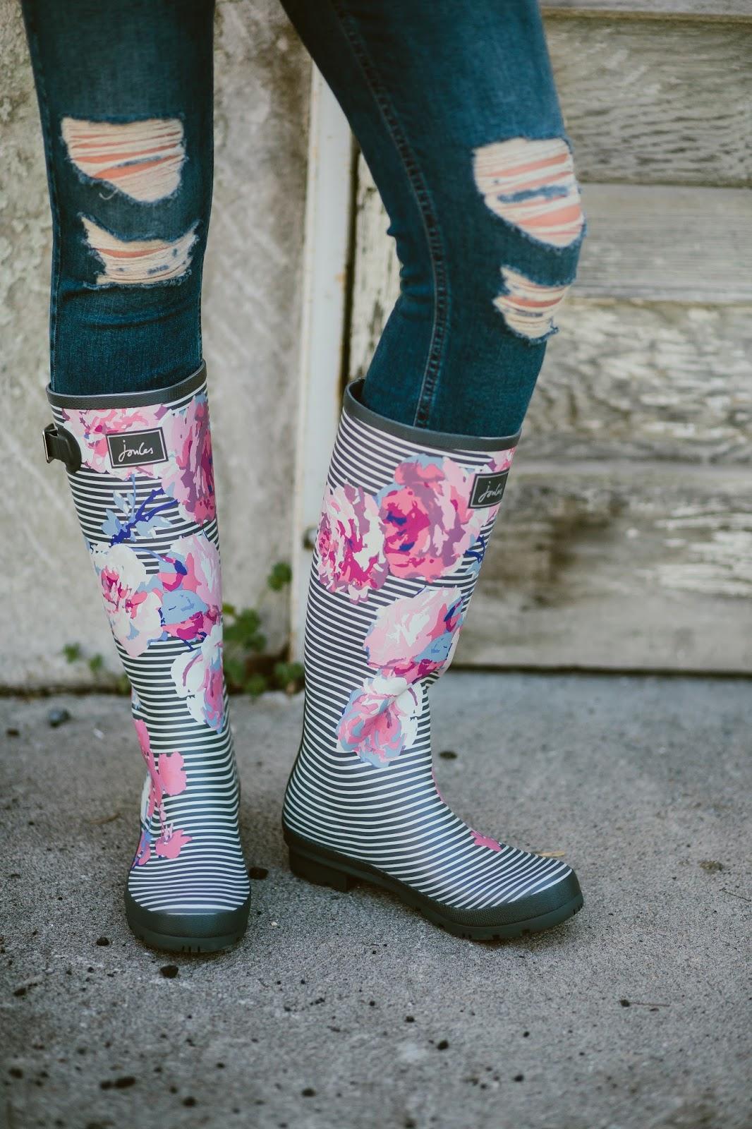 Floral Rain Boots, Rain boots, Joules Rain Boots