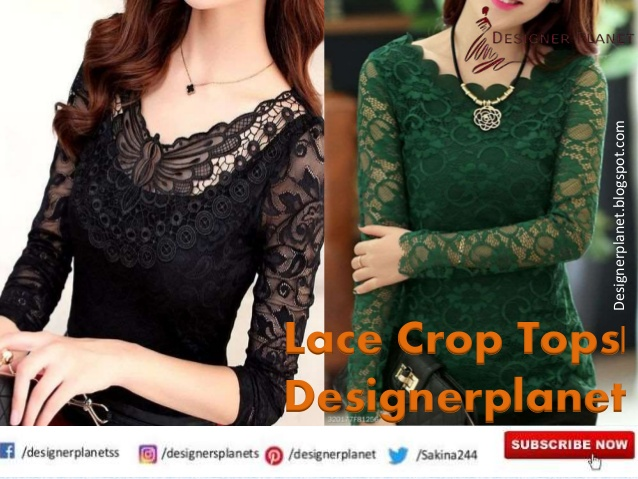 How To Wear A Lace Crop Tops | Lace Crop & Long Sleeve Tops and Tunic | Designerplanet